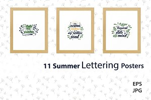 Summer Lettering Collection