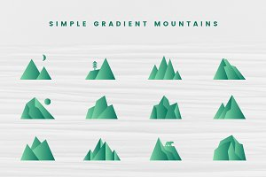 Simple Gradient Mountains