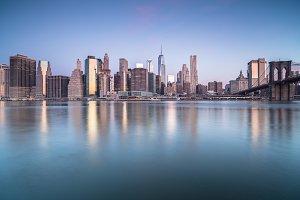 Manhattan with Brooklyn bridge view