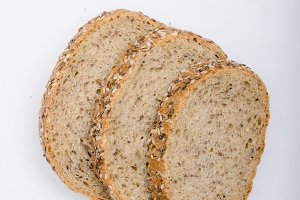 Bread photography, white background