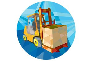Forklift Truck Materials Box Circle