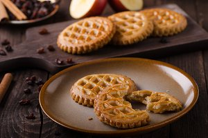 Cookies with apple filling, delish h