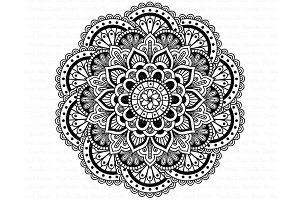 Mandala SVG DXF, Mandala Drawing.