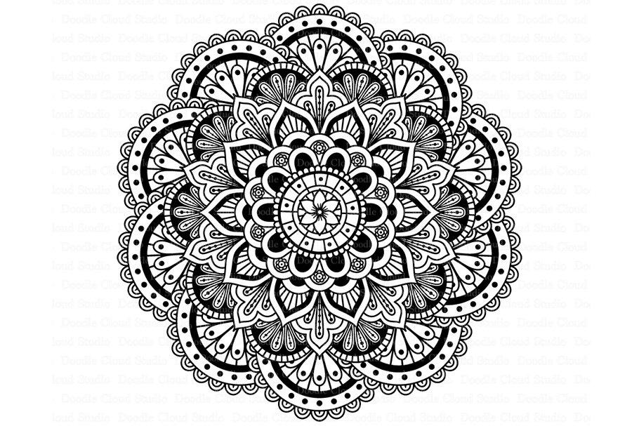 Download Mandala SVG DXF, Mandala Drawing. ~ Illustrations ...