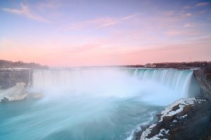 Niagara falls during sunrise