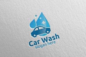 Car Wash Logo, Cleaning Car Logo 1