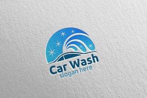 Car Wash Logo, Cleaning Car Logo 2