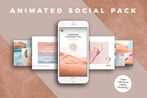 ANIMATED Copper Social Media Pack