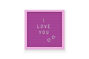 Rose letter board