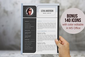 Modern Word resume pack