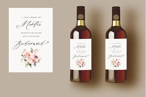 Bridesmaid Proposal Wine Label