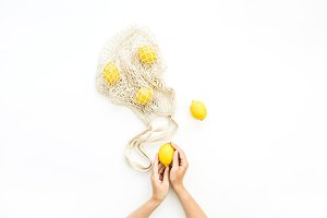 Lemons in female hands