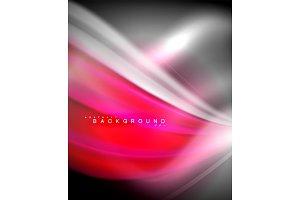 Neon holographic fluid color wave