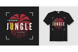 Destination jungle t-shirt design