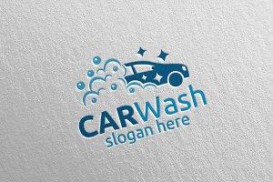 Car Wash Logo, Cleaning Car Logo 7