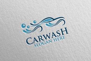 Car Wash Logo, Cleaning Car Logo 8