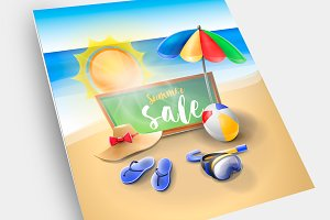 Summer sale. Vacation on the beach