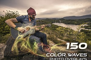 150 Color Waves Photo Overlays