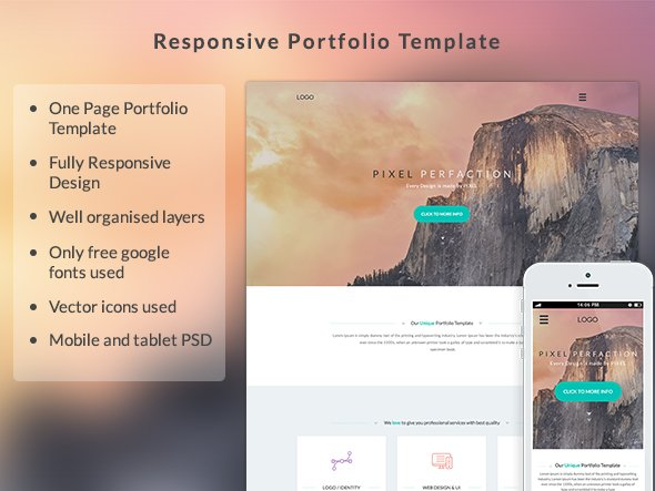 responsive portfolio template website templates. Black Bedroom Furniture Sets. Home Design Ideas