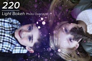 220 Light Bokeh Photo Overlays