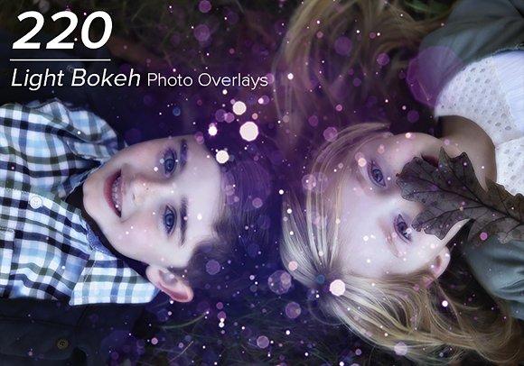 220 Light Bokeh Photo Overlays
