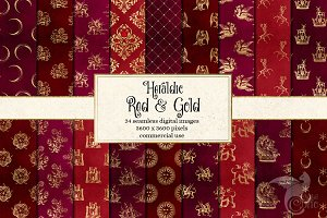 Heraldic Red and Gold Backgrounds