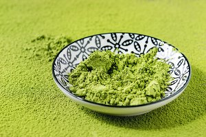 Green tea matcha powder