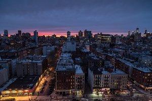 East Village Manhattan during sunset
