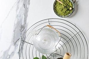 Green tea matcha powder
