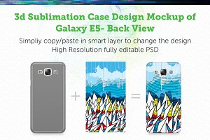 Galaxy E5 3d Sublimation Mockup