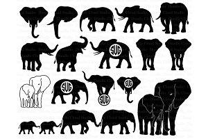 Elephants SVG, Elephant family svg.