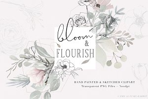 Bloom & Flourish - Floral Clipart