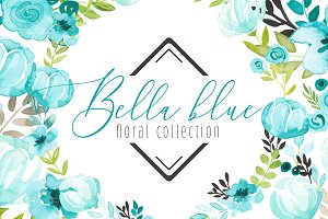 Bella Blue Floral Collection