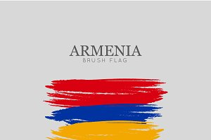 Armenia Flag Brush Stroke