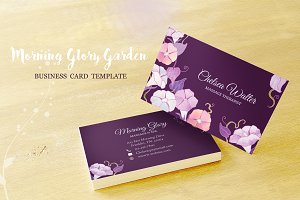Morning Glory Business Card Template
