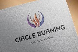 Circle Burning Logo Template