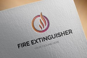 Fire Extinguisher Logo Template