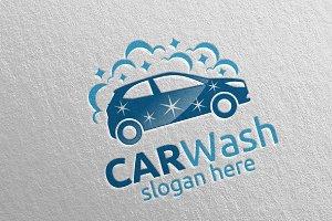 Car Wash Logo, Cleaning Car Logo 16
