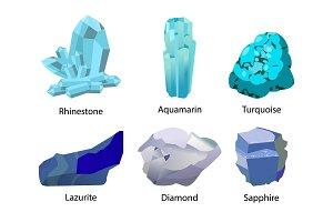 Rhinestone Aquamarine Turquoise