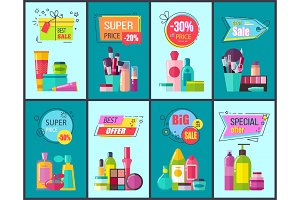 Best Sale and Super Price Set Vector