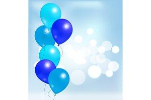 Glossy Shiny Balloons Party