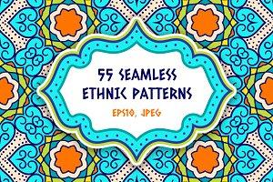 55 Ethnic Seamless Pattern Set