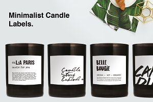 Minimalist Candle Label