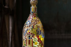 Mosaic and stain glass decor element