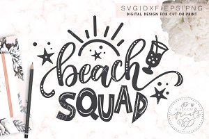 Beach Squad SVG DXF EPS PNG