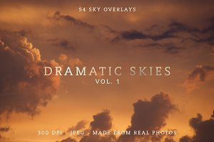 54 Sky Photo Overlays for Photoshop