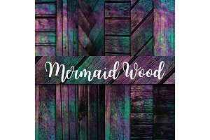 Mermaid Wood Texture Digital Paper