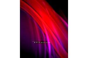 Neon glowing wave, magic energy and