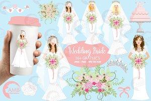 Wedding Brides Clipart, AMB-937