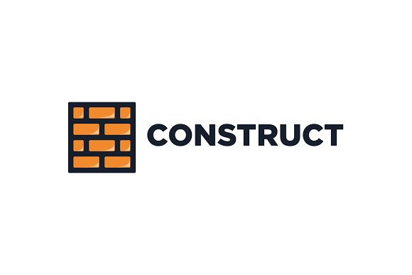 construction logo logo templates creative market